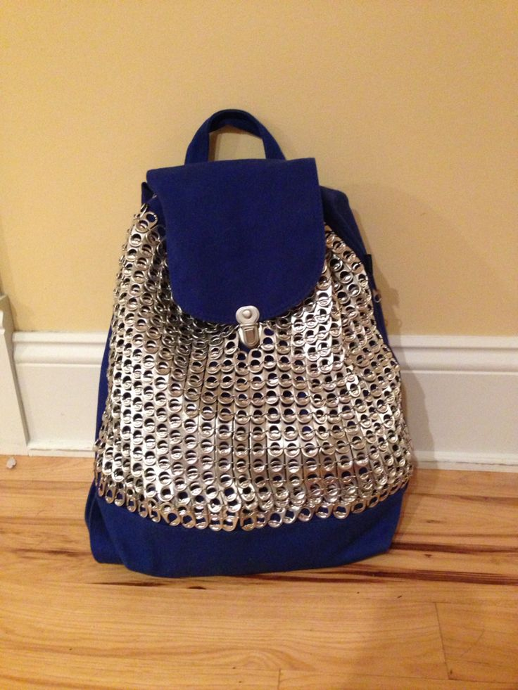Finally finished my poptab covered backpack!