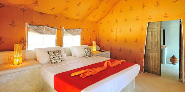Dolphin Beach in Kalapitya, Sri Lanka: comfortable, stylish tents on a golden beach, with pods of playful dolphins a short boat ride away.