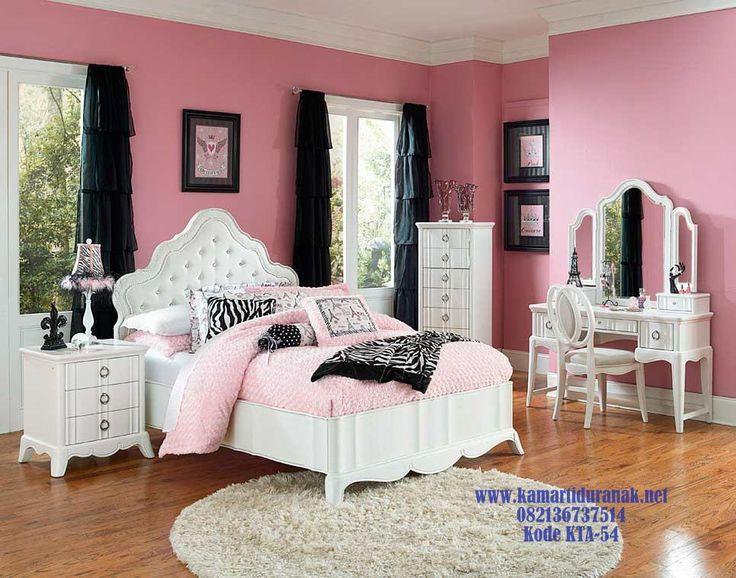 KonsepSet Kamar Anak Perempuan Mewah Pink White Angelica Terbaru…