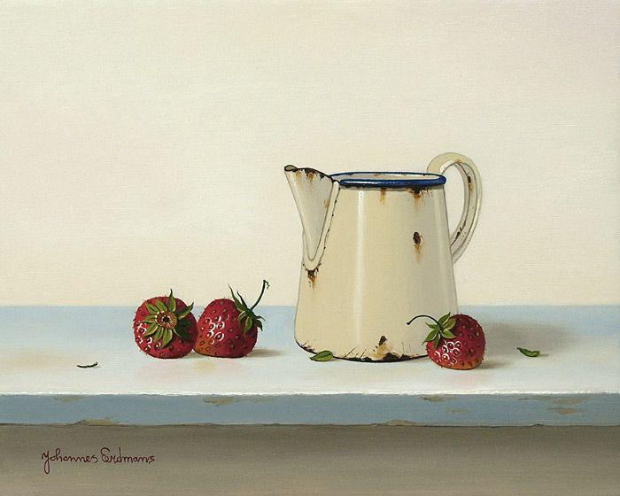 Johannes Eerdmans. Strawberries and an Enamel Jug