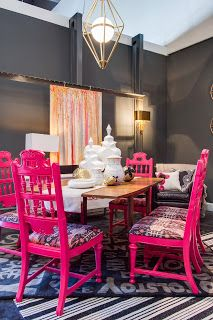 Nice Gray Dining Room Walls, Hot Pink Dining Chairs: Dwell For Dignity Event