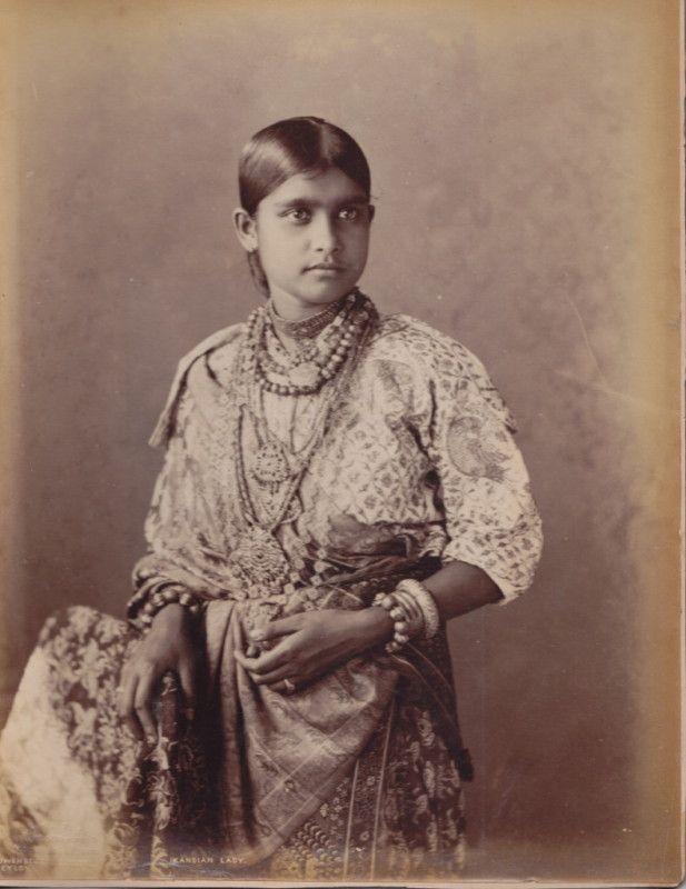 Lady in Costume and Ornaments - Ceylon (Sri Lanka) - 1880's