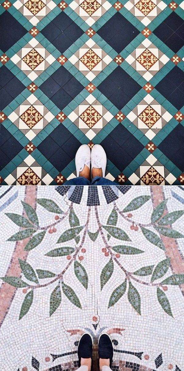 Ha! When was the last time you looked down and noticed what a great rug, floor or tiles you're standing on? We are so caught up in lo...