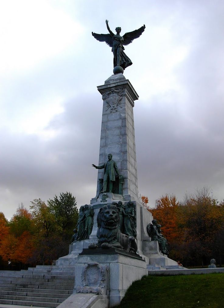 The Monument of Sir Georges -Etienne Cartier on Mount Royal
