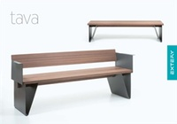 TAVA design benches, with and without backrest.  TAVA panchine di design, con o senza schienale.