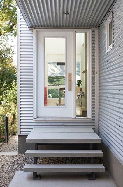 Corrugated metal siding done right. Contemporary Entry by Colizza Bruni Architecture Inc.