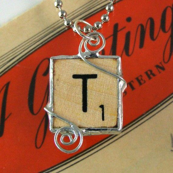 Scrabble Letter T Pendant