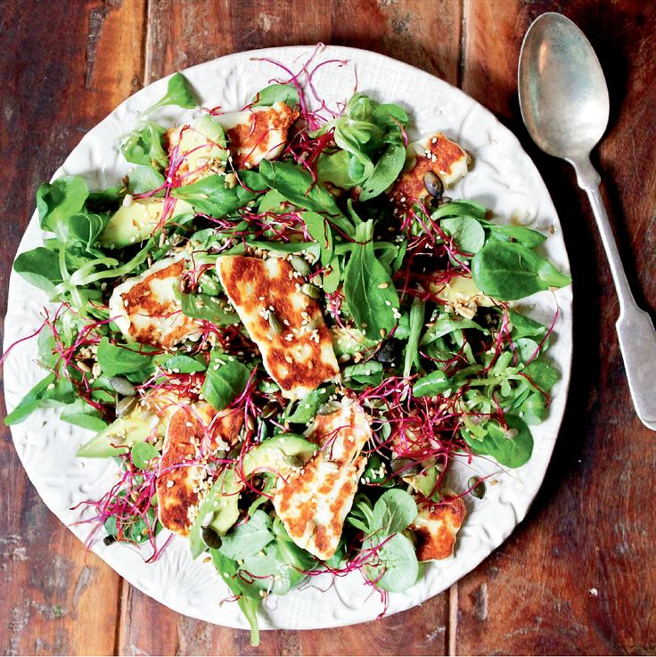 Halloumi, Avocado and Lime Salad - The Happy Foodie