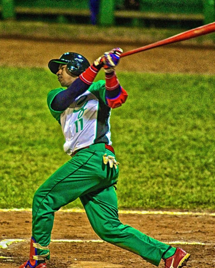 My first trip to Cienfuegos in 2012, I didn't realize then that the majority of the Elefantes infield would find their way Stateside. @erisbelcuba11 takes rip in this photo from Estadio 5 de Septiembre. #cuba #cuba #baseball #Cienfuegos #dodgers #shortsto