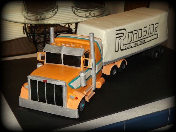 Semi Truck cake — Birthday Cakes