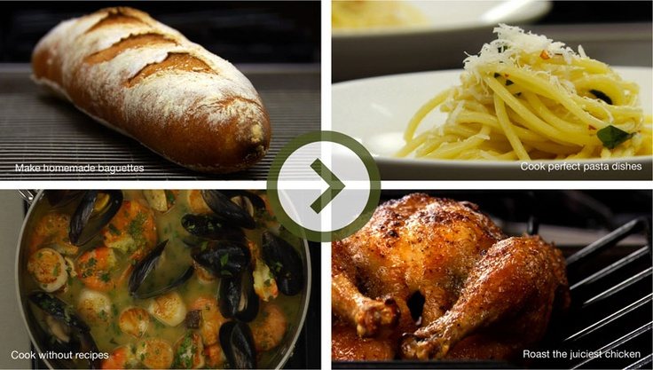 GREAT online cooking classes by professional chefs.