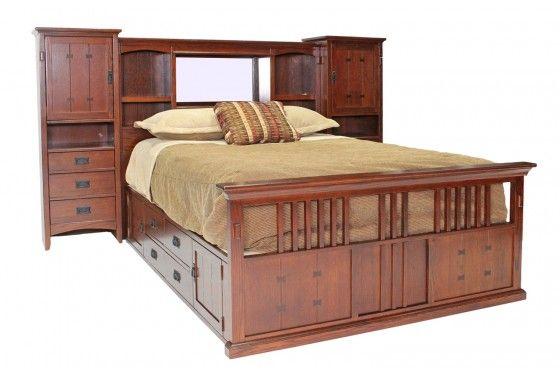 Mor Furniture For Less San Mateo Oak Mid Wall Cal King