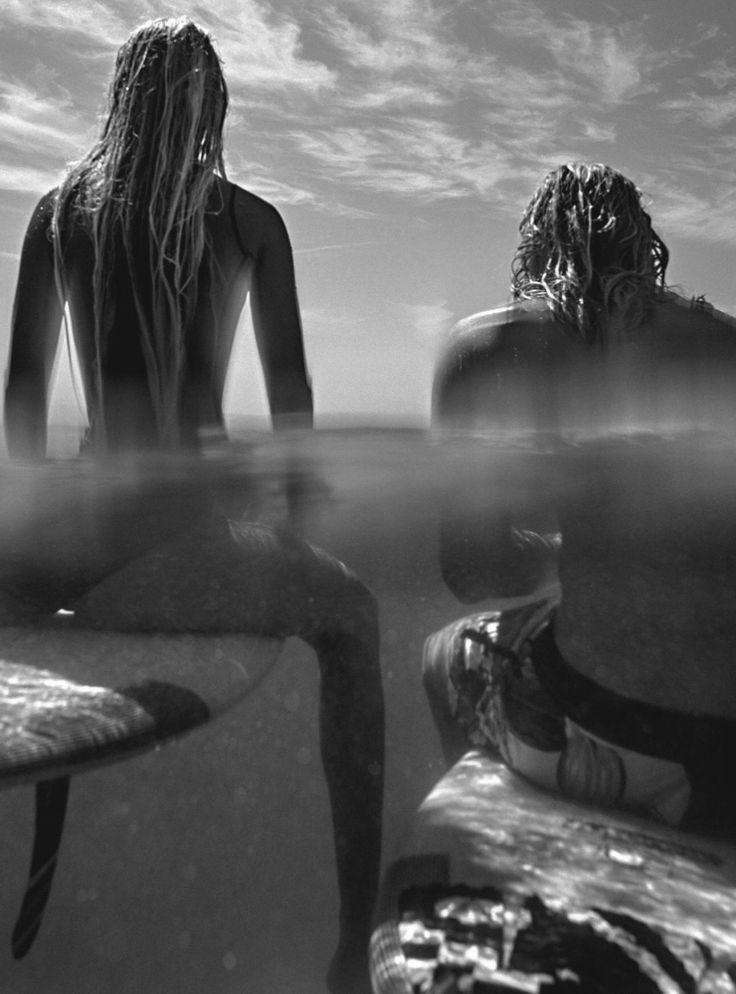 Amanda Wellsh by Benny Horne for Vogue Australia February 2016 - Surfer couple