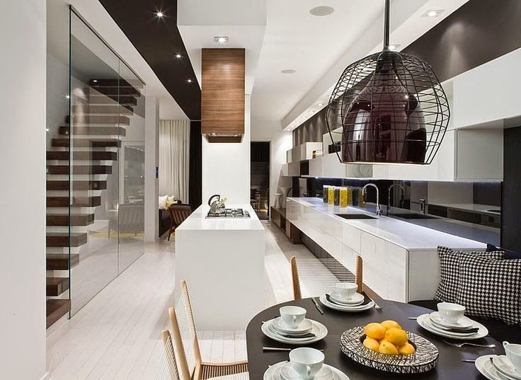 Contemporary Dining Room Kitchen Design Ideas With Modern Appliances  Furniture Of Trinity Bellwoods Town Homes By Cecconi Simone: Vibrant  Contemporary Model ...