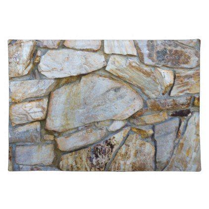 Rock Wall Texture Photo Placemat - photos gifts image diy customize gift idea