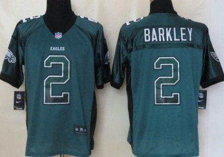 Nike Philadelphia Eagles #2 Matt Barkley 2013 Drift Fashion Green Elite Jersey