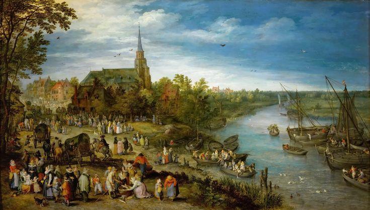 ヤン・ブリューゲル (父) (Jan Brueghel de Oude)「Parish Fair in Schelle」 ウィーン美術史美術館