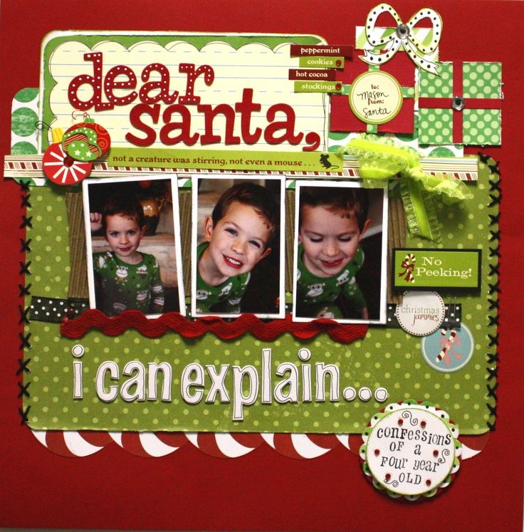 Christmas scrapbook layout christmas scrapbook for Christmas layout ideas