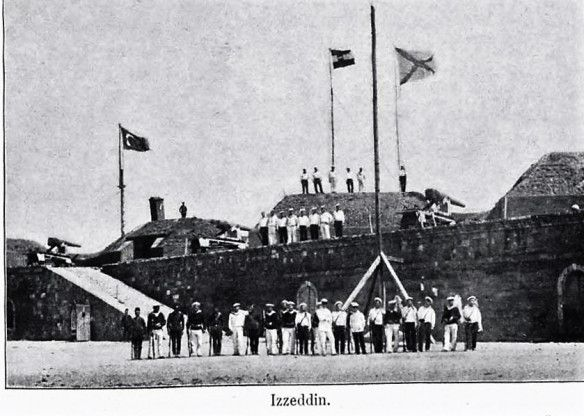 Fort Izzedin showing Russian and Austro-Hungarian troops in occupation.