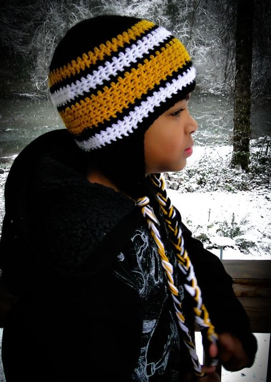Steelers crochet hat - I'm making these for football season