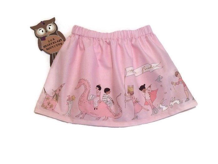 A personal favourite from my Etsy shop https://www.etsy.com/uk/listing/459372306/baby-pink-animal-parade-skirt-unicorns