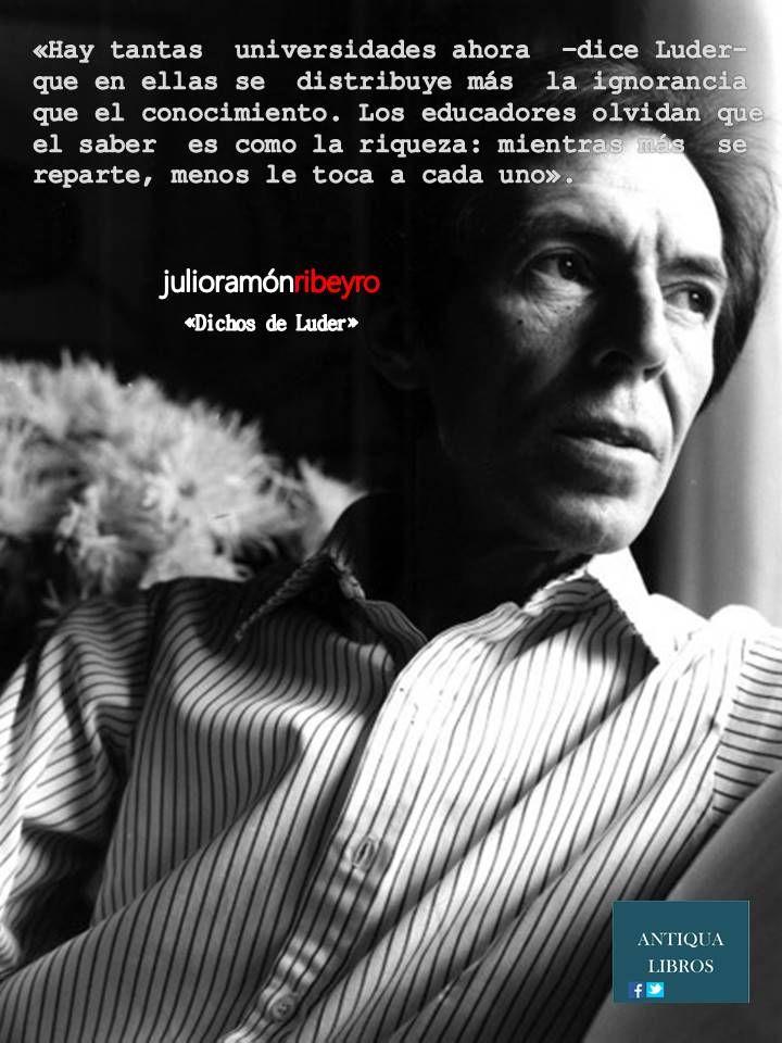 Dichos de Luder, Julio Ramón Ribeyro. Literatura Peruana