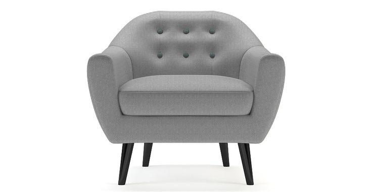 Brosa Kraesten Modern Danish Style Armchair - Wolf Grey | $599.00