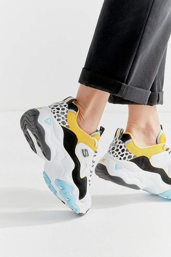 Skechers X One Piece D Lites 3 Sneaker Leather Shoes Woman
