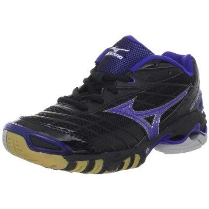 Mizuno Women`s Wave Lightning RX Volley Ball Shoe,Black/Royal,11 M US
