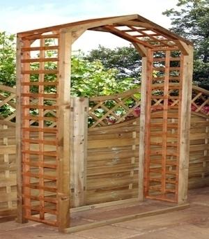 £95 215x106x42 cm BRIDGFORD ARCH, DECORATIVE WOODEN GARDEN FEATURE - BUTTERCUP FARM | eBay