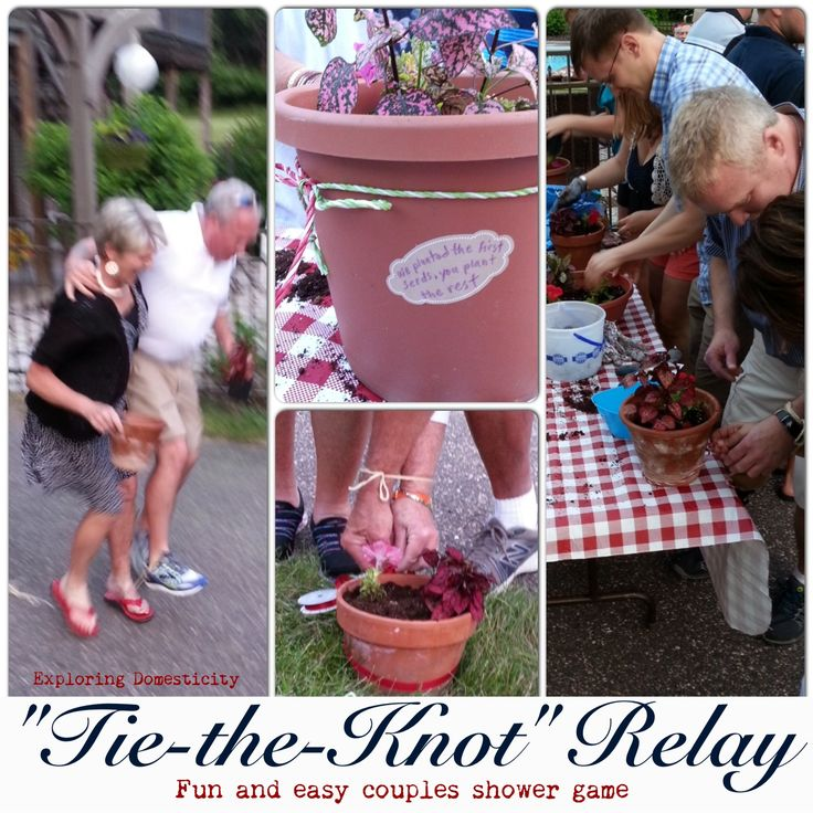 """Tie-the-Knot"" Relay: fun and easy couples shower game - Other Wedding Ideas"