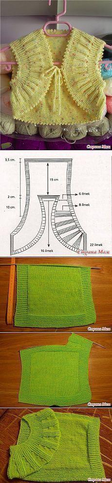 """& Quot; pliegues, acordeón & quot; - Bolero de migas. - Tejer juntos en línea - casa las mamás [ """"Tabard Baby Vest with rounded fronts (short rows)"""", """"Yellow bolero for baby - crochet pattern"""", """"Now I have a better idea for using half circles as fronts"""" ] # # #Baby #Crochet #Patterns, # #Baby #Vest, # #Vests, # #Knitting, # #Of #Agujas, # #Boleros"""