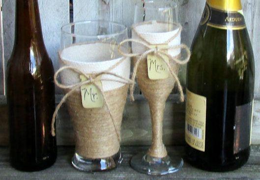 Country Wedding Toasting Glasses / by CarolesWeddingWhimsy on Etsy