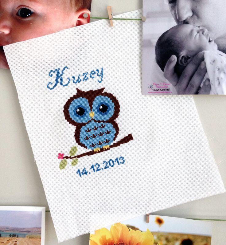 Baby owl cross stitch