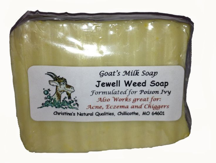 Jewelweed Goat's Milk Soap for Poison Ivy, Poison Oak - 4oz. Bar. Relief and Prevention of Poison Ivy and Oak. Contains Tea Tree Essential Oil to Aid with Chiggers. Contains Essential oils of Geranium and Calendula to help with MANY skin rashes. Helps speed healing time of Cuts and Scratches.