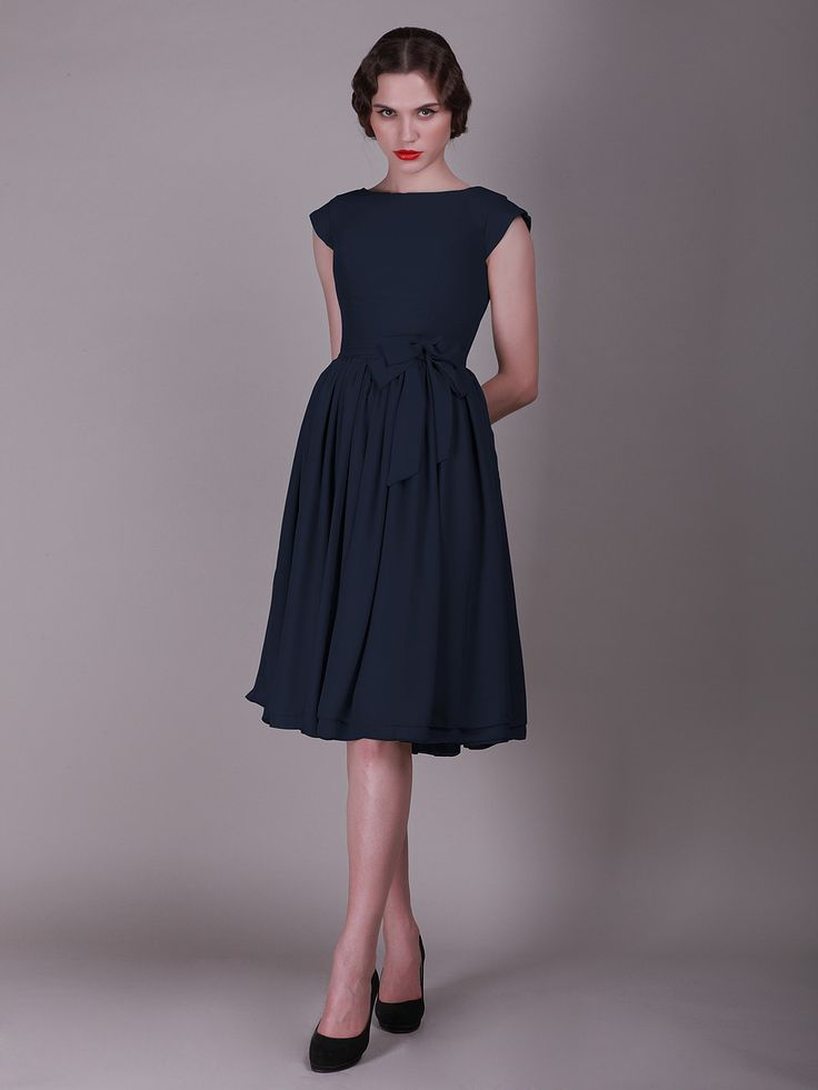 Cap Sleeved Vintage Bridesmaid Dress with Faux Buttons    http://www.forherandforhim.com/cap-sleeved--vintage-bridesmaid-dress-with-faux-buttons_728.html#