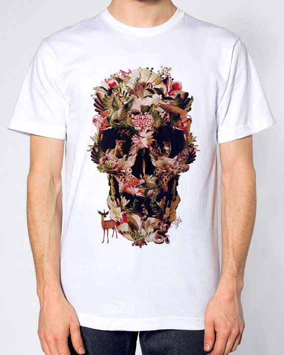 Jungle Skull Men's T-shirt by ikiikishop on Etsy