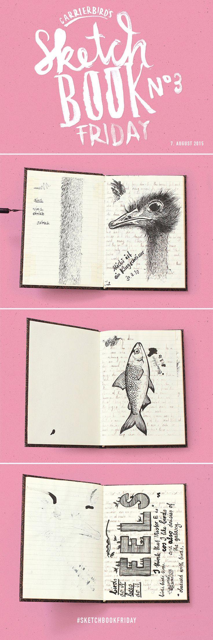 Carrier Bird's Sketchbookfriday No.03