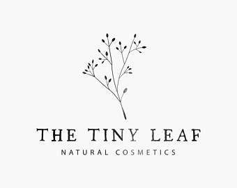 Handdrawn botanical logo, Custom logo design, Premade logo, Logo branding, Leaf logo, Feminine logo, Boho logo, Business logo, Logo kit