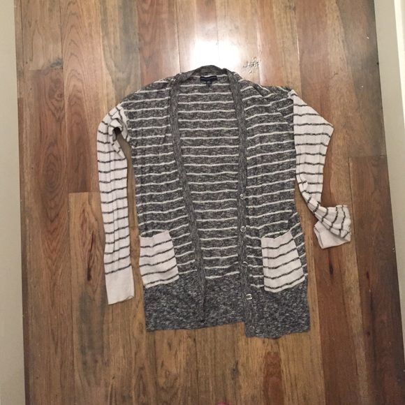 American eagle striped cardigan American eagle stripes cardigan with front pockets and stripe variation on sleeves! American Eagle Outfitters Sweaters Cardigans