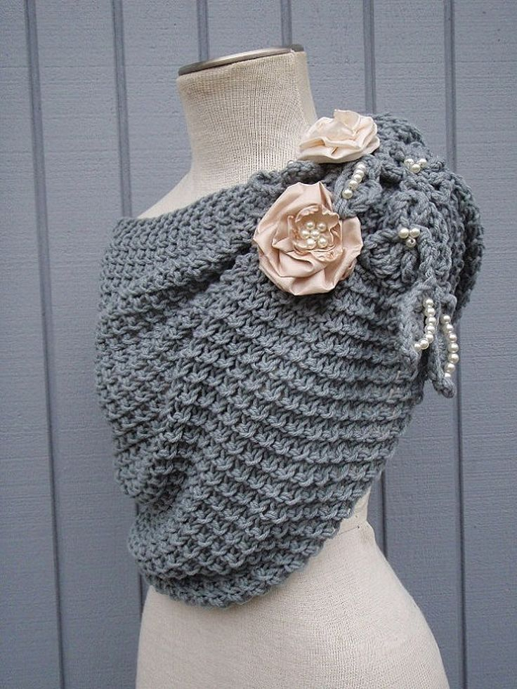 Shawl, Cover up, Bridal Shrug, Bridal Shawl, grey Shawl, Wedding Shawl | denizy - on ArtFire