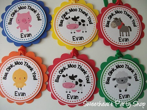 Down on the Farm Party Favor Tags