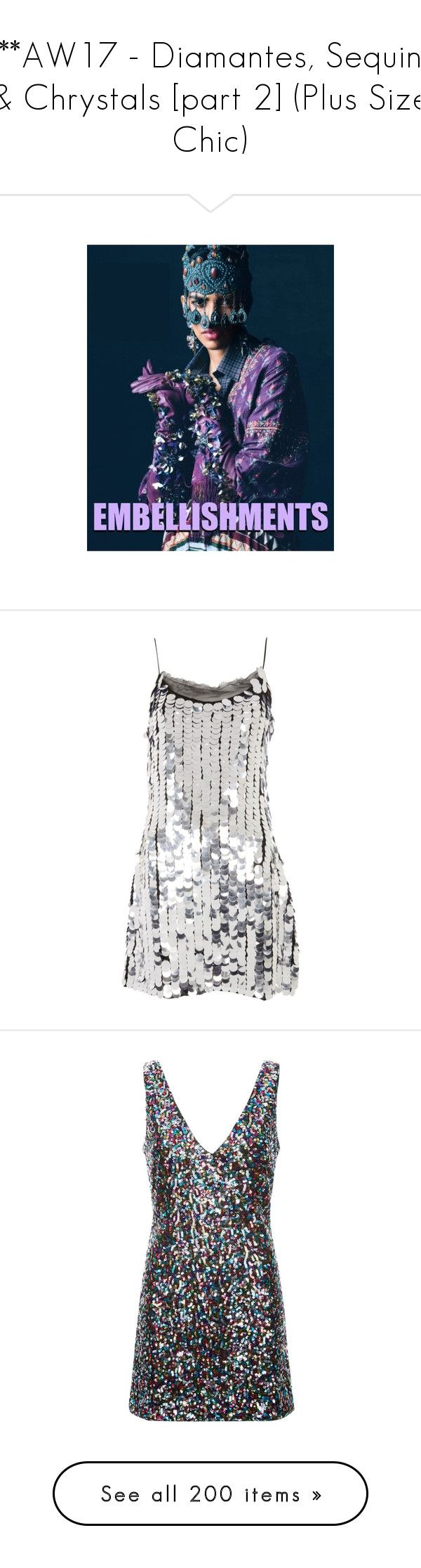 """""""***AW17 - Diamantes, Sequins & Chrystals [part 2] (Plus Size Chic)"""" by foolsuk ❤ liked on Polyvore featuring dresses, short sequin cocktail dresses, sequin mini dress, sequin party dresses, sequin cocktail dresses, white cocktail dress, intimates, hosiery, socks and shoes"""