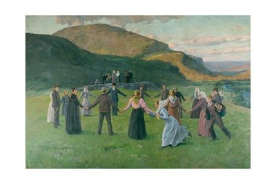 Youth Party in Eggedal 1895 by Christian Eriksen Skredsvig