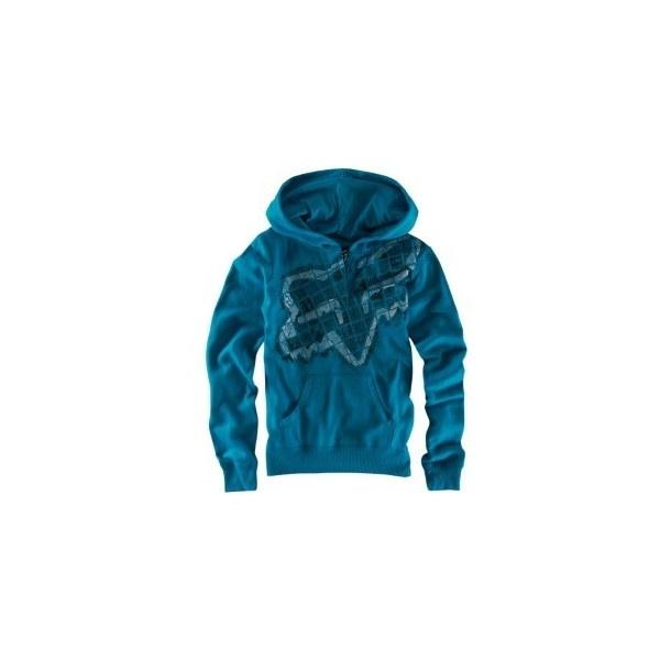 Fox Riders Co Breakdown Hoodie - Womens - Skate - Clothing - Aqua