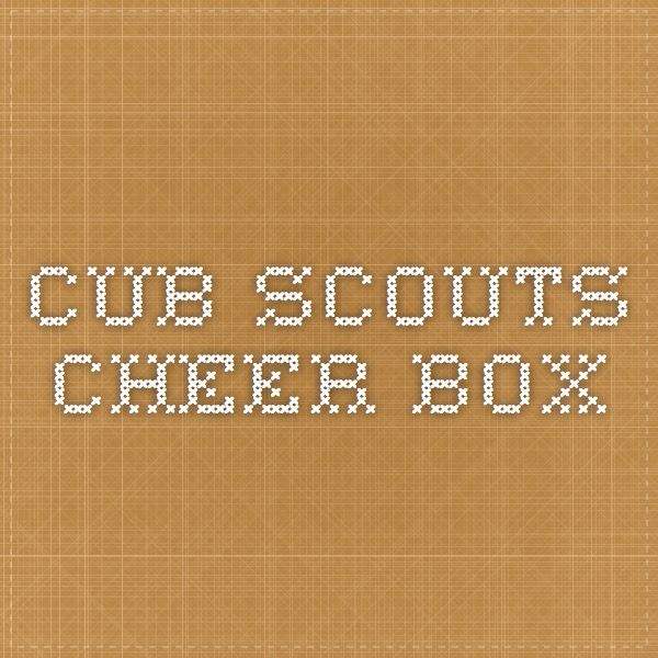 Cub Scouts Cheer Box