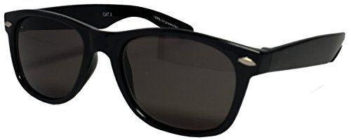 (Findes i mange varianter) Mens Womens Wayfarer Sunglasses Classic Black Frame and Lens 80's Retro Geek 100% UV400 Raintopia http://www.amazon.co.uk/dp/B00LQUZHQU/ref=cm_sw_r_pi_dp_0H10wb1YZRNEH