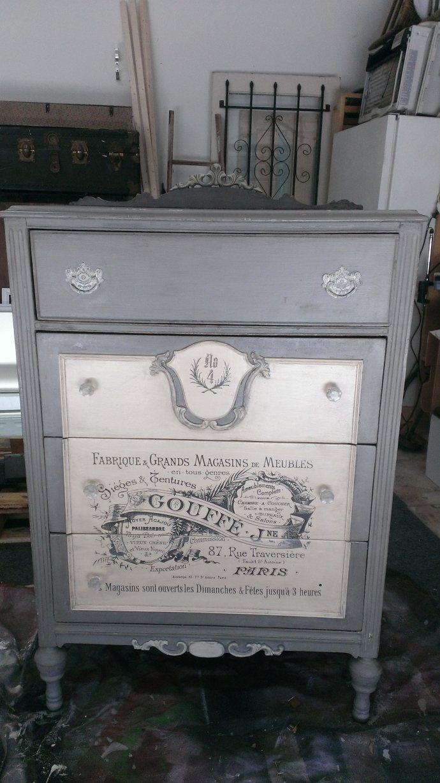 Modge Podge and chalk paint chest