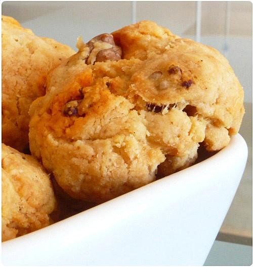Cookies au parmesan, chorizo et noix