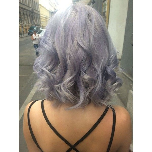 Silver lavender hair ❤ liked on Polyvore featuring hair